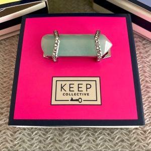 KEEP Collective | Green Quartz Stone Bar Charm